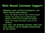 web based customer support