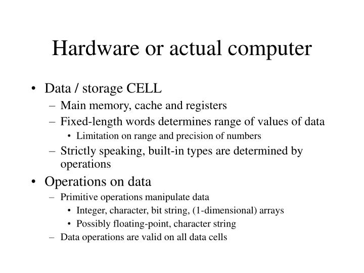 Hardware or actual computer