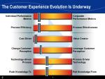 the customer experience evolution is underway