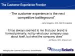 the customer experience frontier