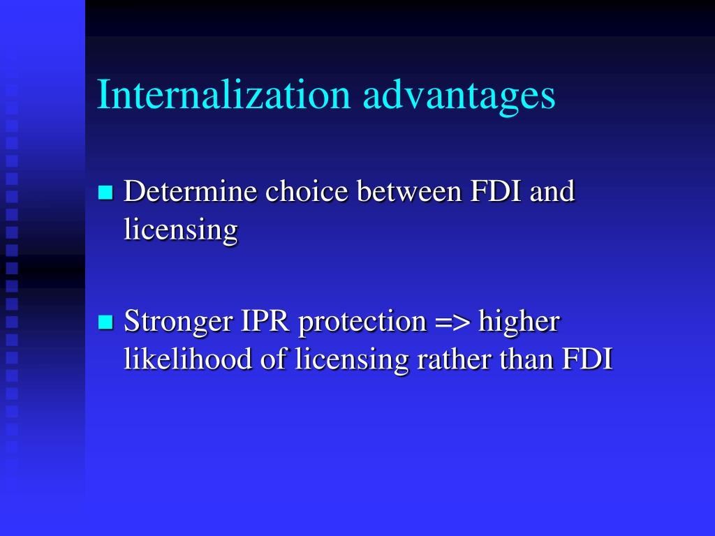 Internalization advantages