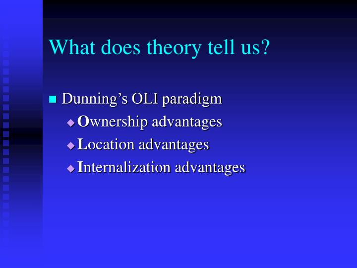 What does theory tell us