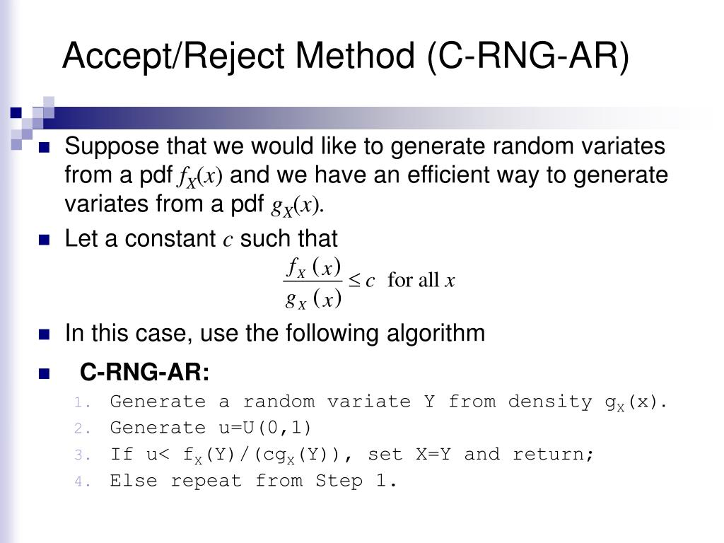 Accept/Reject Method (C-RNG-AR)