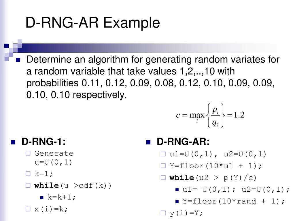 D-RNG-AR Example