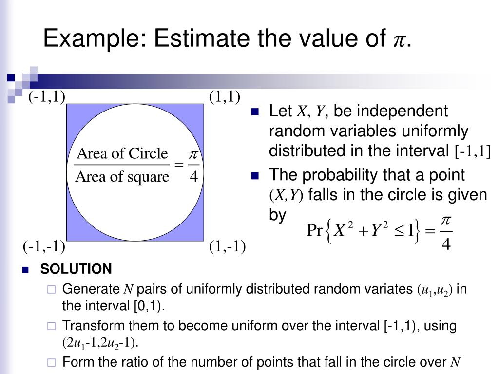 Example: Estimate the value of