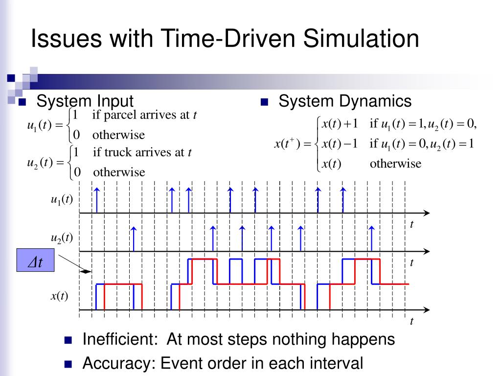Issues with Time-Driven Simulation