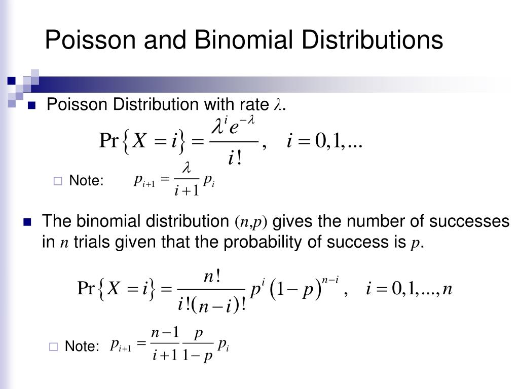 Poisson and Binomial Distributions