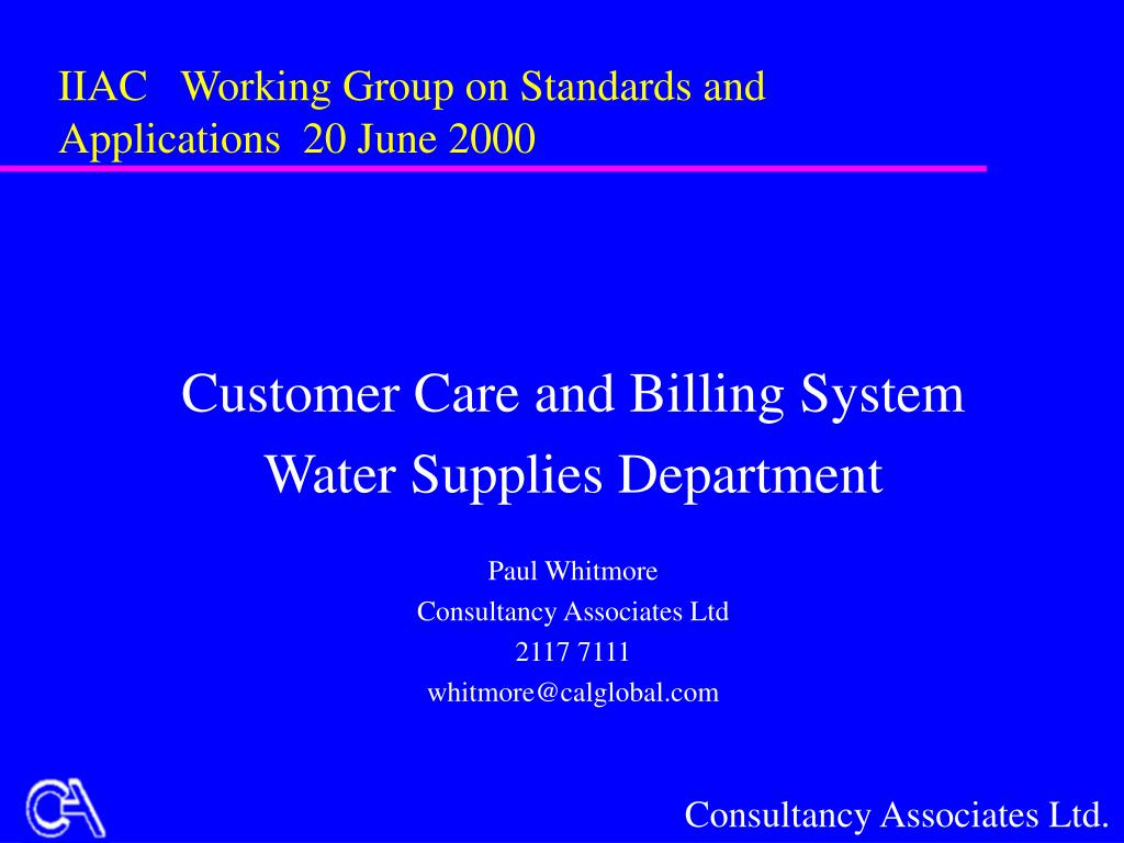 iiac working group on standards and applications 20 june 2000 l.