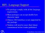 rfi language support
