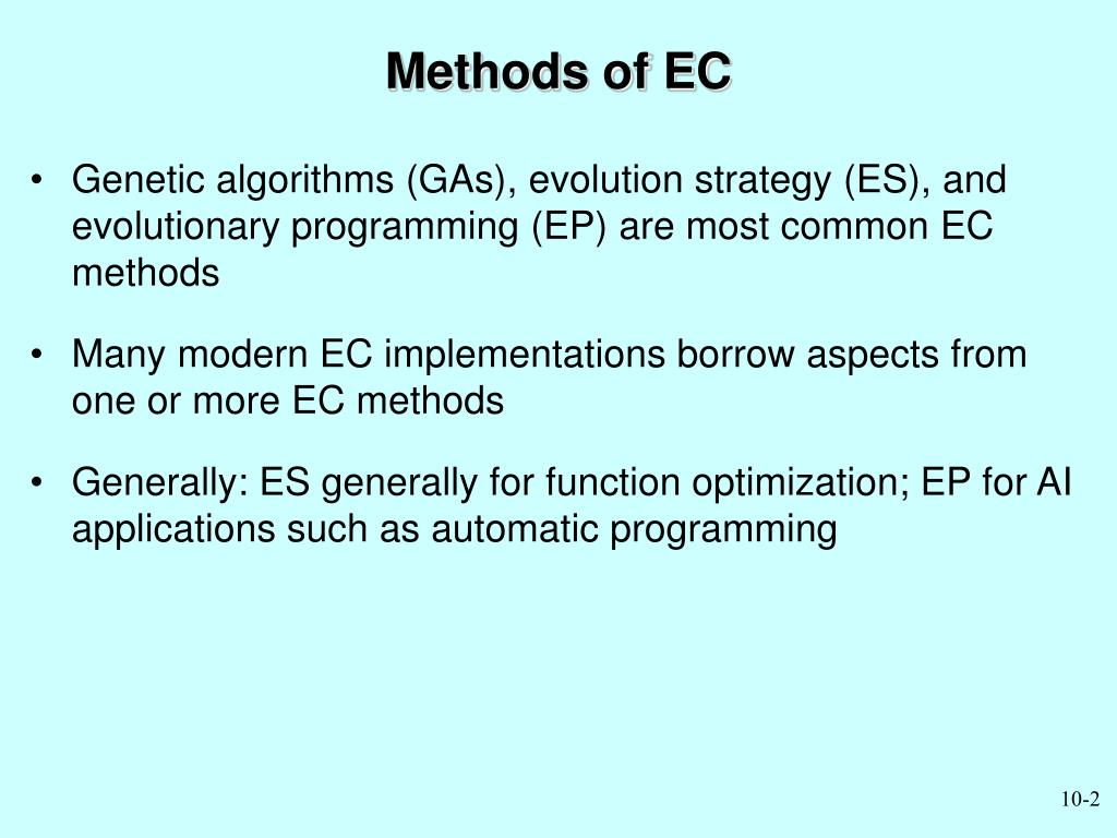 Methods of EC