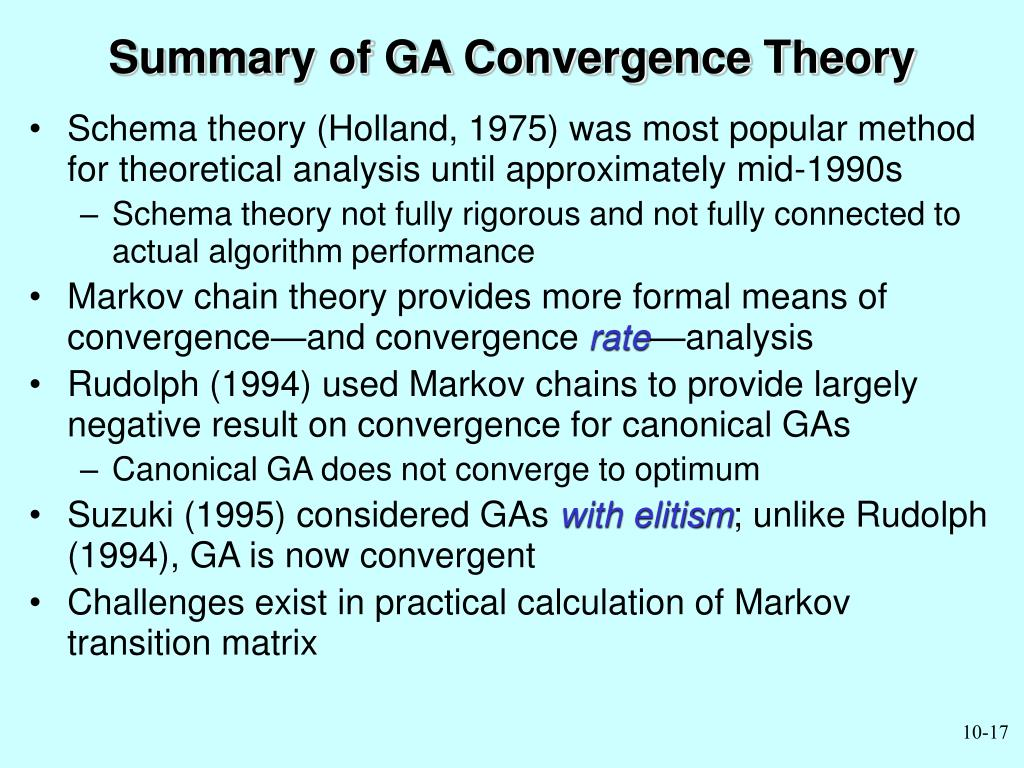 Summary of GA Convergence Theory