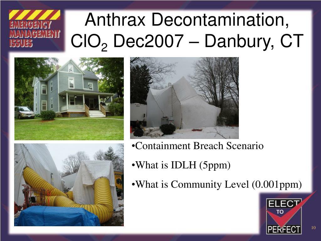 Anthrax Decontamination, ClO