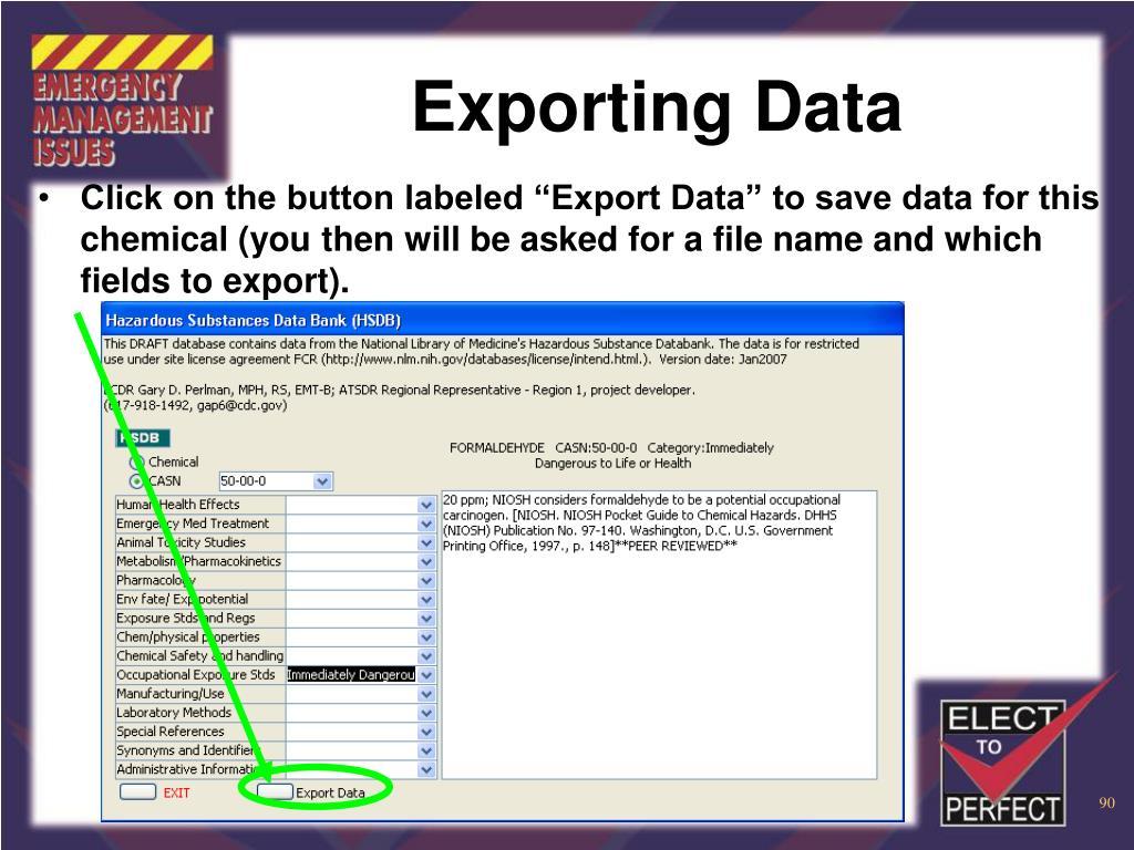 Exporting Data