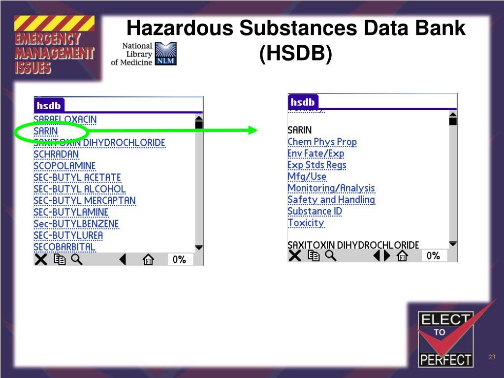 Hazardous Substances Data Bank (HSDB)