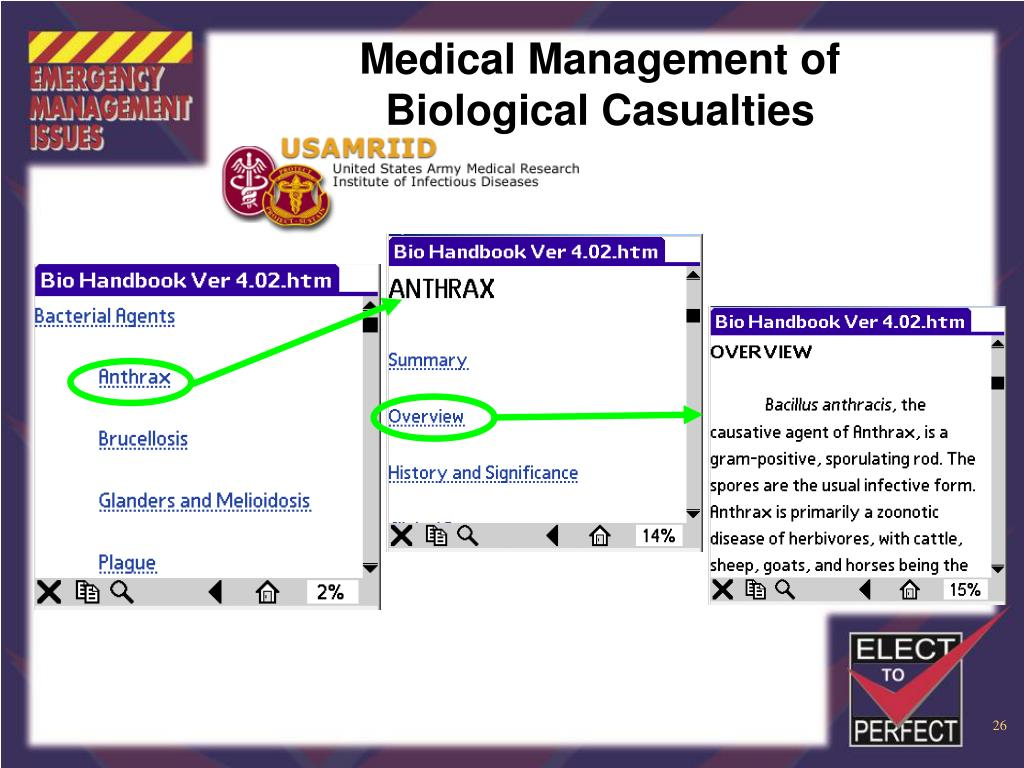 Medical Management of Biological Casualties