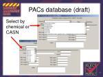 pacs database draft