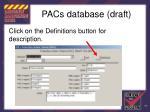 pacs database draft100