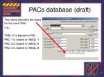 pacs database draft102