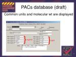 pacs database draft99
