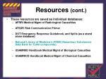 resources cont