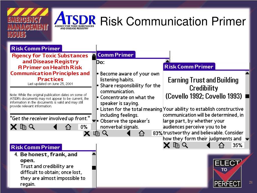 Risk Communication Primer