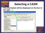 selecting a casn89