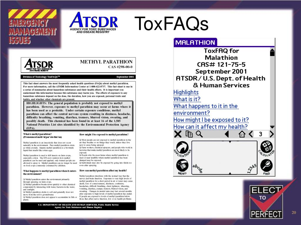 ToxFAQs