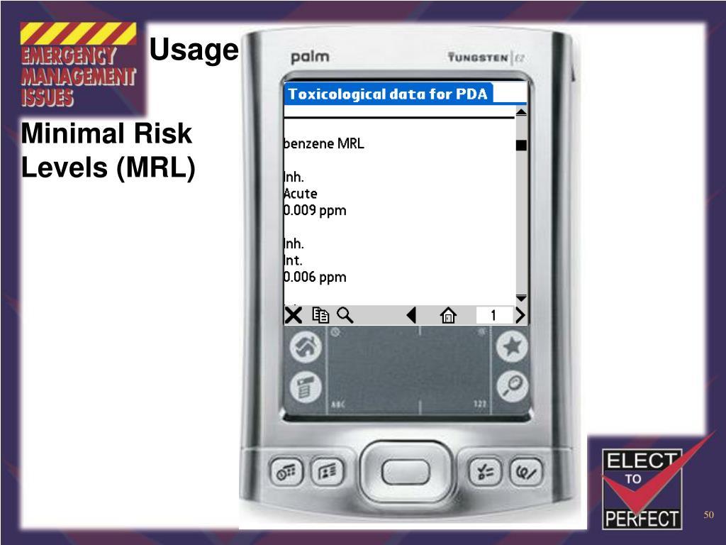 Minimal Risk Levels (MRL)