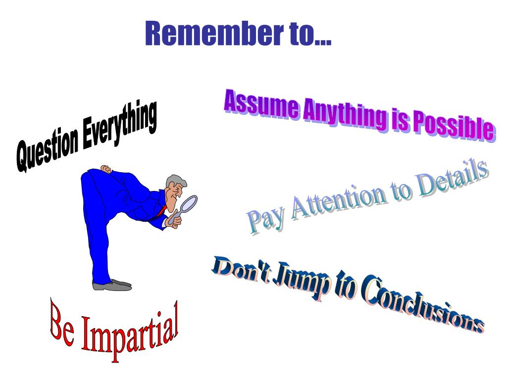 Remember to...