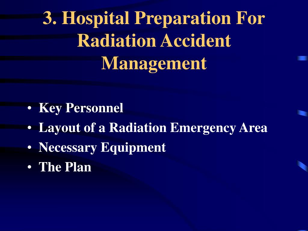 3. Hospital Preparation For