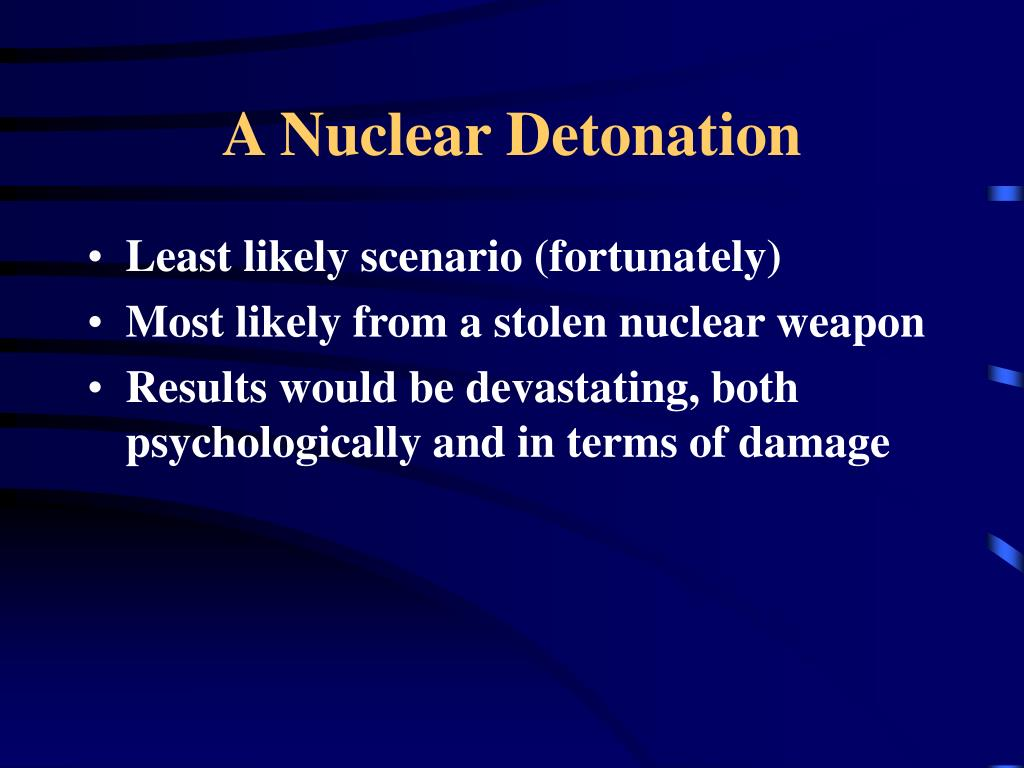A Nuclear Detonation