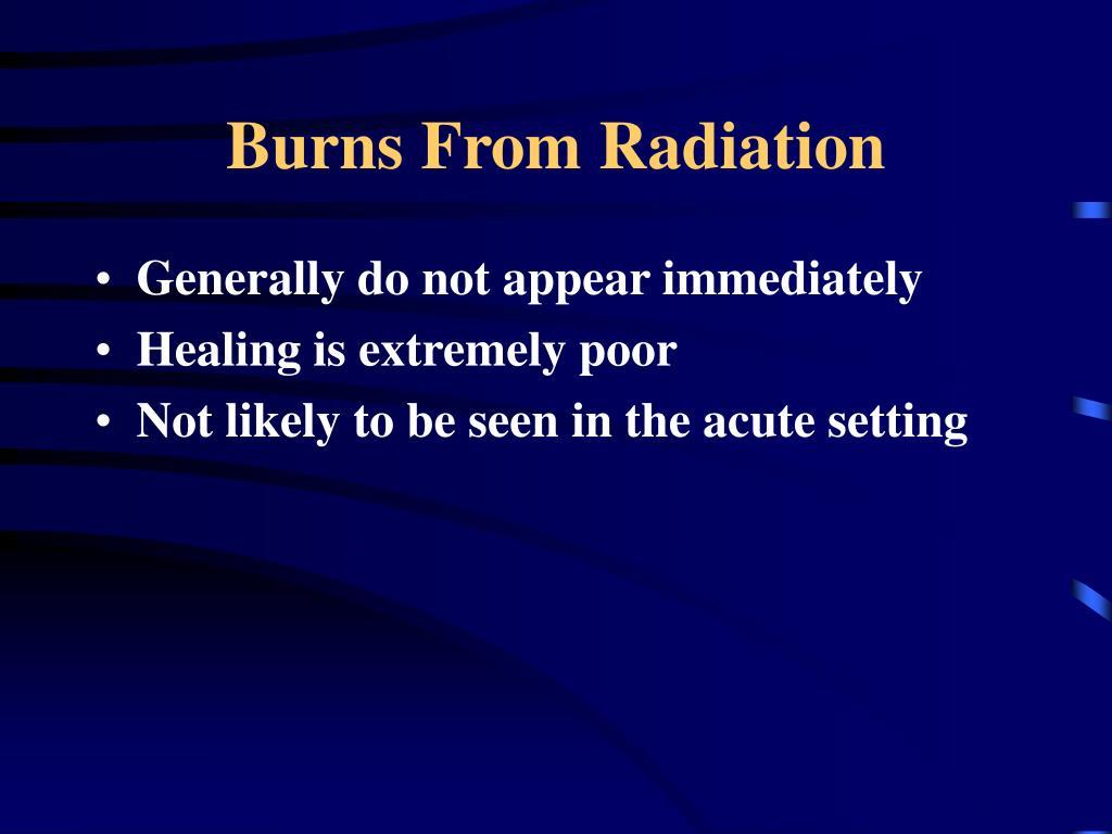 Burns From Radiation