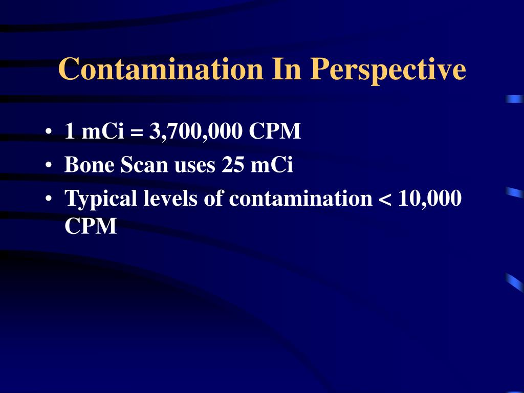 Contamination In Perspective