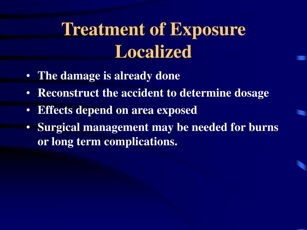 Treatment of Exposure
