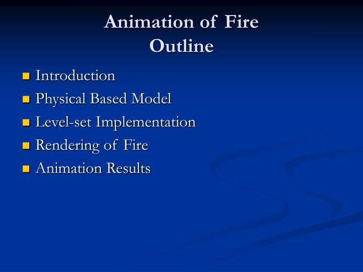 Animation of fire outline