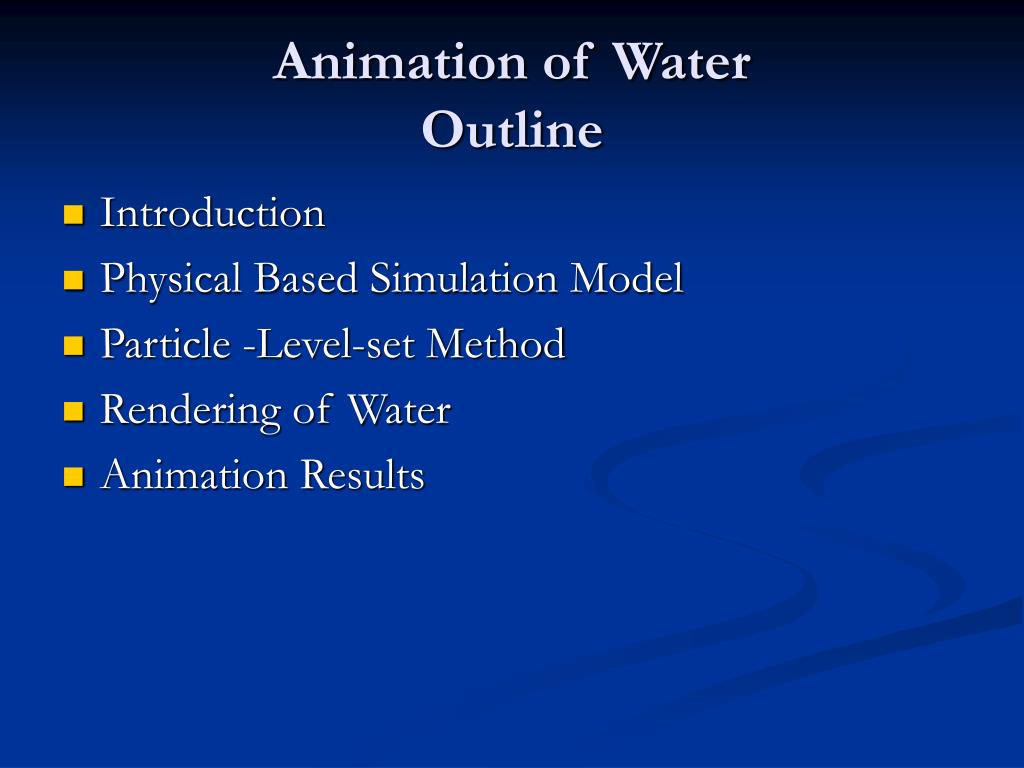 Animation of Water