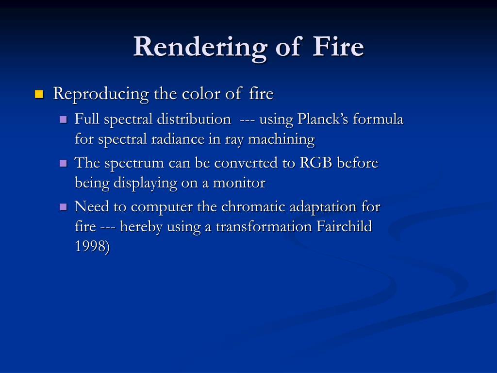 Rendering of Fire