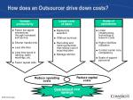 how does an outsourcer drive down costs