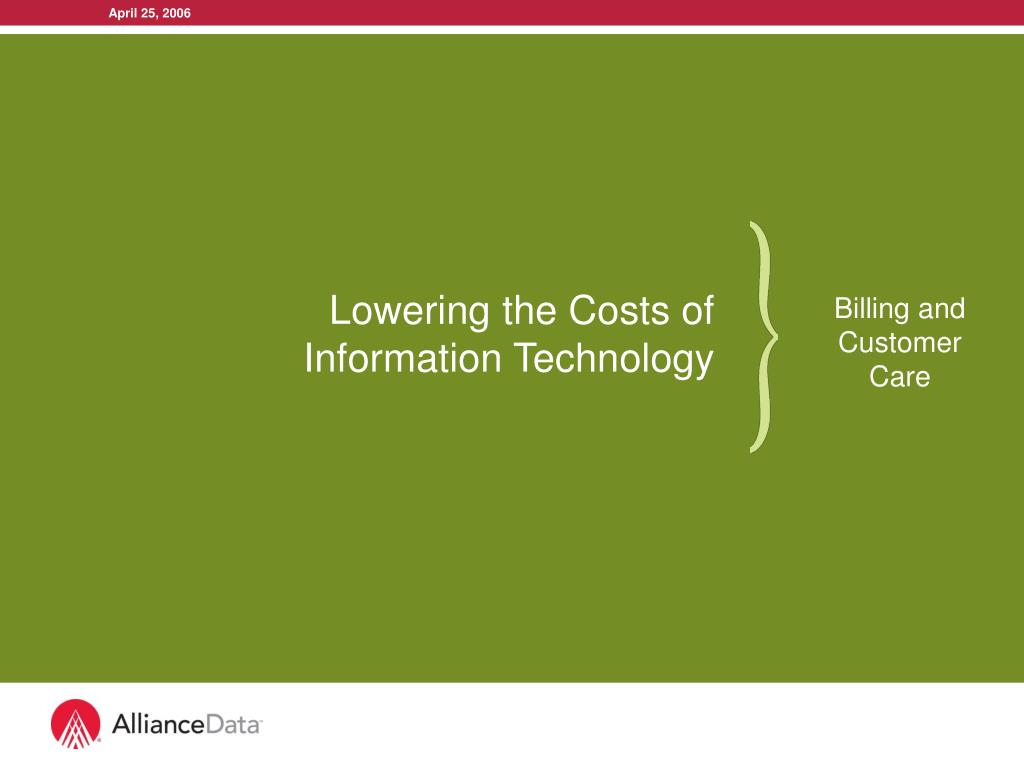 lowering the costs of information technology l.