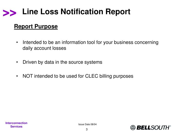 Line loss notification report3