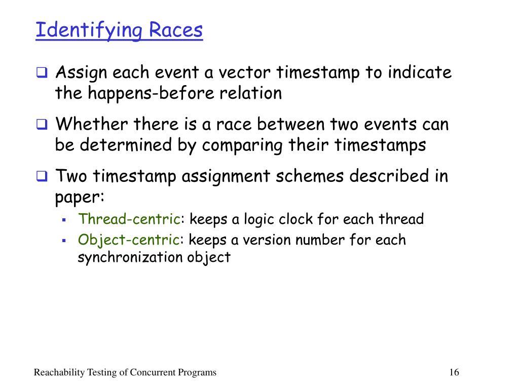 Identifying Races
