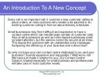 an introduction to a new concept