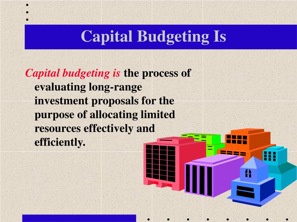 Capital Budgeting Is