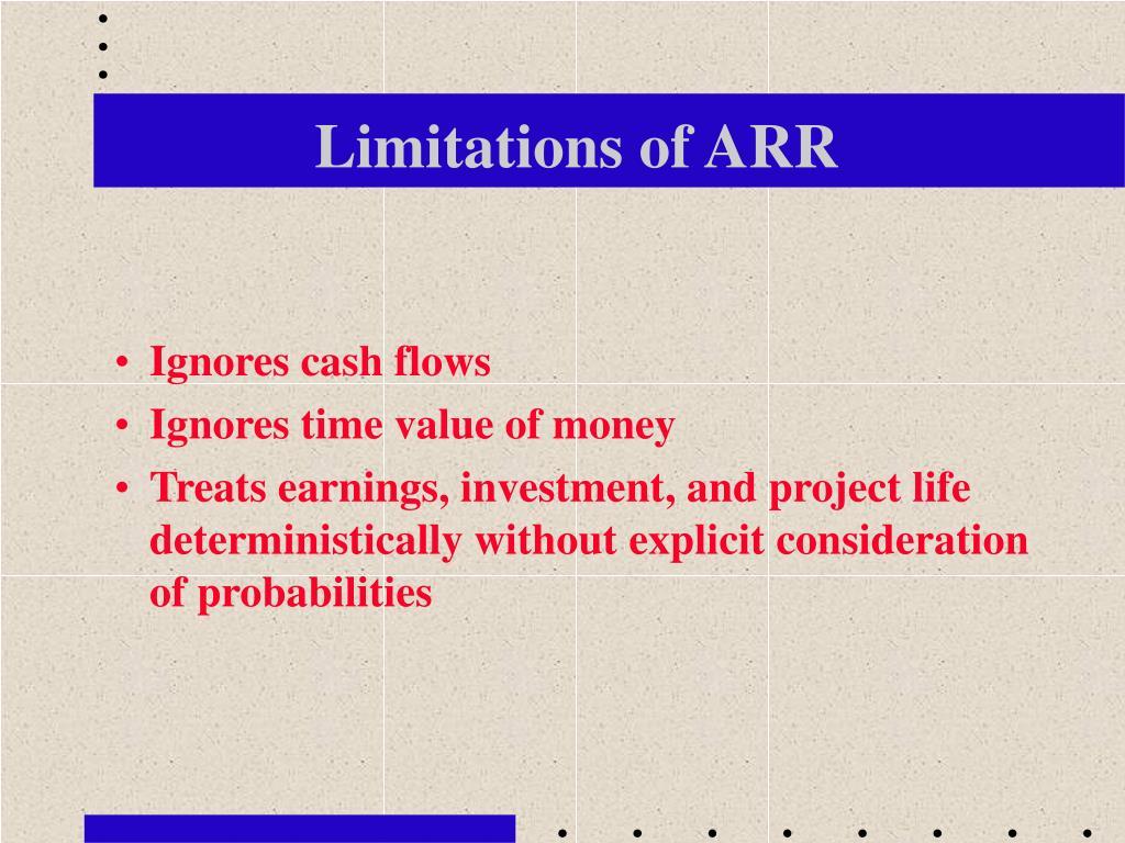 Limitations of ARR