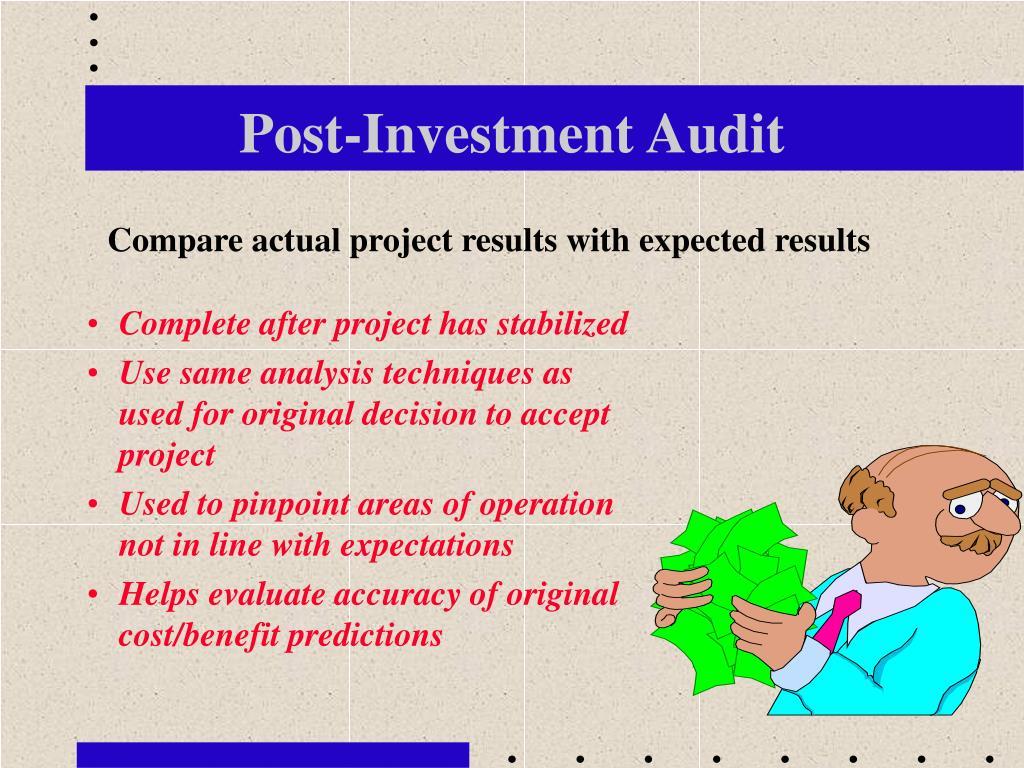 Post-Investment Audit
