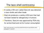 the taco shell controversy