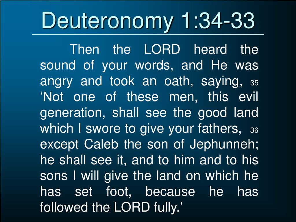 Deuteronomy 1:34-33