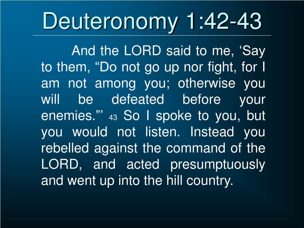 Deuteronomy 1:42-43