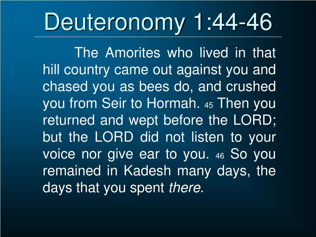Deuteronomy 1:44-46