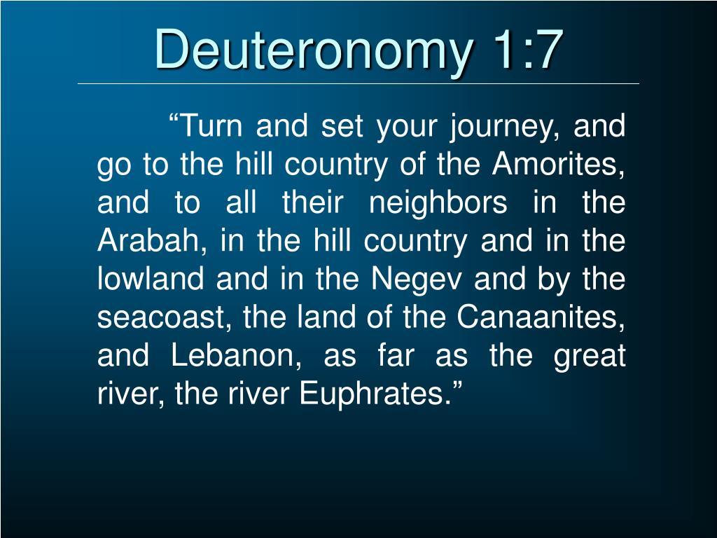 Deuteronomy 1:7